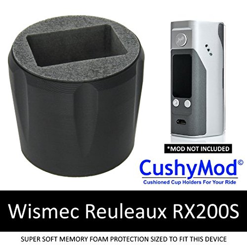 Wismec Reuleaux RX200S MOD CUP HOLDER by CushyMod vape stand insert wrap vehicle 200w tc jaybo silicone auto skin case car