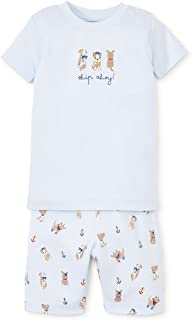 Kissy Kissy Baby-Boys Infant Salty Dogs Print Short Pajama Set