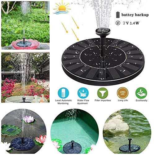 SO Solar fontein, outdoor waterpomp eenvoudige installatie zonne-vijverpomp voor tuinvijver of fontein vogelbad visreservoir zonne-pomp