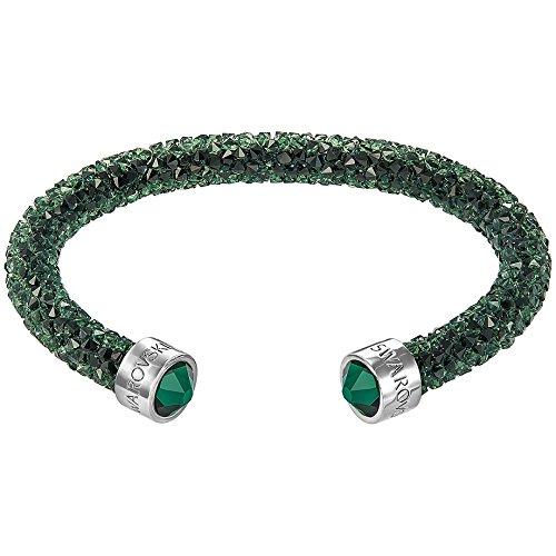 Swarovski Damen-Armreif Crystaldust Bracelet Edelstahl Kristall grün Rundschliff - 5255908