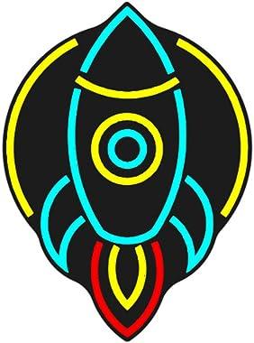 Enseigne Lumineuse Au Néon Enseignes Au Néon de Fusée LED Panneau Acrylique Néon Coloré Veilleuse Décoration Murale Néon Ense