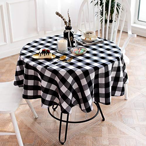 LIUJIU Mantel de mantel en aspecto de lino, forma cuadrada y varios tamaños, color gris, forma cuadrada, 140 cm