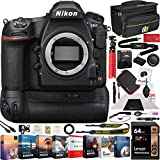 Nikon D850 FX-Format Full Frame Digital SLR DSLR WiFi 4K Camera Body + Battery Grip Power Bundle with Deco Gear Photography Case Bag + 64GB Card + Compact Tripod + Software & Accessories