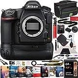 Nikon D850 FX-Format Full Frame Digital SLR DSLR WiFi 4K Camera Body + Battery Grip Power Bundle with Deco Gear Photography Case Bag + 64GB Card + Compact Tripod + Software & Accessories