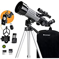 Celestron 70mm Travel Scope DX Portable Refractor Telescope with Bonus Astronomy Software Package