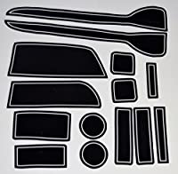 KINMEI(キンメイ) ホンダ N-WGN 白 専用設計 インテリア ドアポケット マット ドリンクホルダー 滑り止め ノンスリップ 収納スペース保護 ゴムマットHONDA N ワゴンnw-w