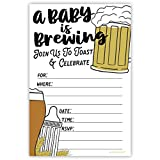 m&h invites Baby is Brewing Baby Shower inviti con buste (20count)