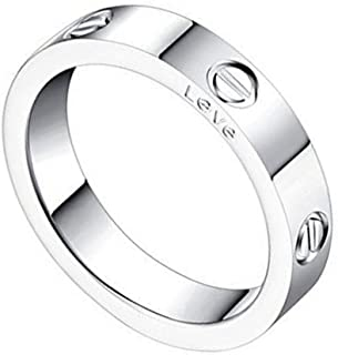 Qindishijia 4mm Silver Love Ring-Lifetime Just Love You with