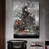 aicedu 1 God of War 4 Póster Decoración De Personajes Pintura Decoración del Hogar Arte Lienzo Arte-60X80Cm