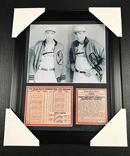 11x14 Framed & Matted Dizzy & Daffy Dean 1934 Season ST LOUIS CARDINALS 8X10 PHOTO