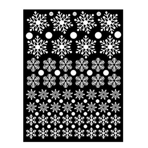 Pegatinas de la ventana de Navidad Etiqueta engomada de copo de nieve...