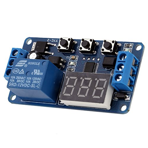 KKmoon 12V Modulo Relè Delay Timer Digitale Control Switch Relay Module, LED Display