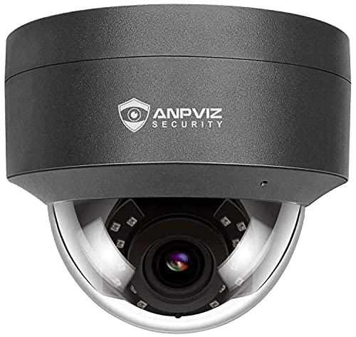 Anpviz 5MP POE IP Kamera Dome Outdoor mit Audio/mikrofon, 2,8mm Objektiv 110° Winkel, 30m IR Nachtsicht, IP66 wasserdicht, Bewegungserkennung, Fernzugriff(IPC-D250G-S)