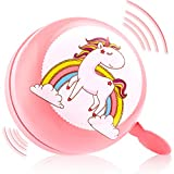 kortes Bike Bell for Kids, Updated Design Bicycle Handlebar Bell, Children's Bike Accessory Safe Cycling Ring (Pink)
