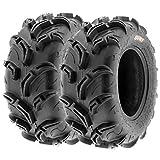 Pair of 2 SunF Warrior AT 26x11-12 ATV UTV Mud & Trail Tires, 6 PR, Tubeless A048