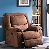 B BAIJIAWEI Fabric Electric Recliner Chair - Heated Vibration Massage Sofa with USB Charge Port - Microfiber Reclining Sofa for Home, Living Room, Bedroom