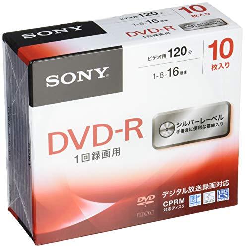 ソニー ビデオ用DVD-R CPRM対応 120分 1-16倍速 5mmケース 10枚パック 10DMR12MLDS