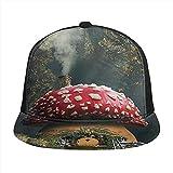 HARLEY BURTON Gorra de béisbol unisex impresa plana facturada gorras originalidad fantasía seta casa verano ajustable empalme Hip Hop Cap Sun Hat negro