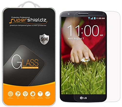 (3 Pack) Supershieldz for LG G2 Tempered Glass Screen Protector Anti Scratch, Bubble Free