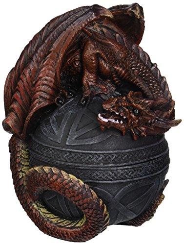 Design Toscano CL551022 Dragon Protector of the Celtic Orb Sculptural Box,full color