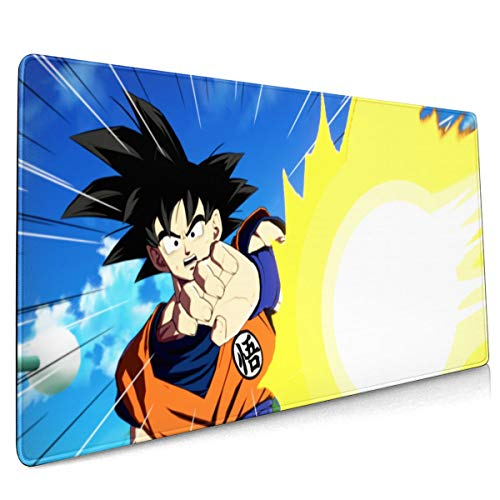 Extended Mouse Pad - Cool Goku Dragon Ball XXL Gaming Computer Mousepad 35.43 X 15.75 X 0.12inch
