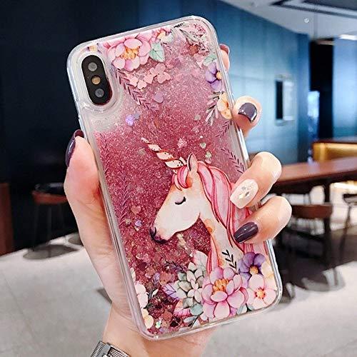 LIUYAWEI para Samsung Galaxy S10 S8 S9 Plus S7 S6 Edge Note 9 8 Quicksand Glitter Funda para A50 A70 A6 A8 A7 2018 J3 J5 J7 A3 A5 2017 Funda, Unicornio Grande, para J5 2017 J530