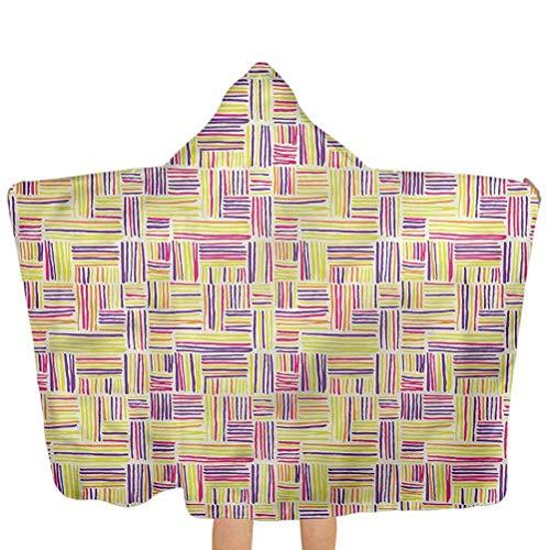 ZHSL Kinder Kapuzen Handtuch abstrakt, Doodle Art bunte Kinder Bad/Pool/Strand Kapuzen Handtuch für Baby, Kleinkinder oder Kinder 51,5x31,8 Zoll