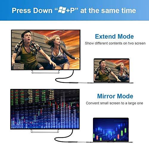 Hulier USB zu HDMI Adapter, USB 3.0 to HDMI Adapter USB HDMI Konverter 1080P HD Video Audio Multi Monitor Adapter Konverter für Windows 7/8/10