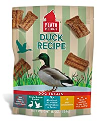 package of all natural duck dog treats