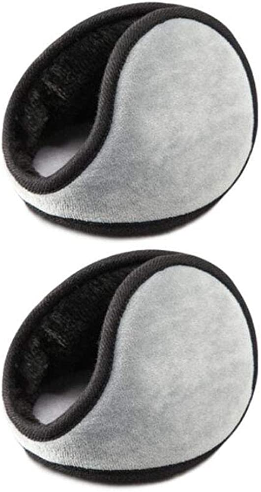 Set of 2 Warm Winter Earmuffs Winter Ear Warmers Covers for Cold Weather Behind The Head Style, D03