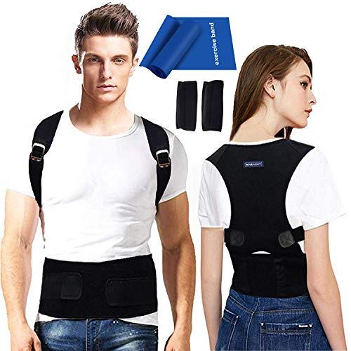 Back Brace Posture Corrector for Men - Medical Posture Brace for Women - Best Adjustable Back Corrector Provides Lumbar Support - Lower & Upper Back Pain Relief - Shoulder Kyphosis Posture Device(M)