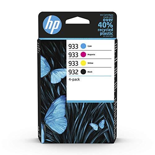 HP 932/933 Multipack (Blau/Rot/Gelb/Schwarz) Original Druckerpatronen für HP OfficeJet 7510, 7612, 7110, 6700, 6100, 6600