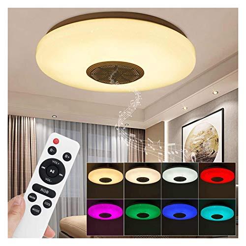 Lámpara de techo 120W Modern RGB LED LED de techo App Bluetooth LED Música Lámpara de techo para la sala de estar Superficie Montada Smart LED Luz de techo Para iluminación (Lampshade Color : 120W)