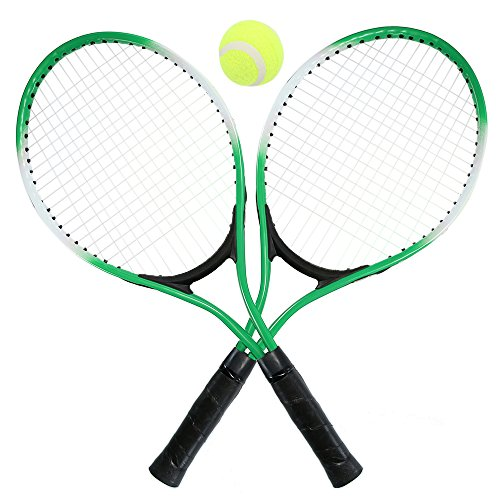 Lixada Set di Racchette da Tennis per Bambini con 1 Pallina da Tennis e Cover Bag Durevole, 2 Pezzi Racchette da Tennis per Principianti