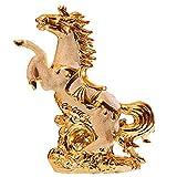 BEAUTYLE Adornos de Caballo de cerámica Dorada Figuras decoración Artesanía Modelo de delfín Animal Miniaturas Sala de Estar Regalo de Boda