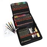 Matite Colorate Professionali da Disegno,Set Matite Colorate 48 Colori e 12 Matite a Carboncino in Un Astuccio Con Zip,Creativa Kit Disegno Artistico Fornire a Artista Professionale e Principianti