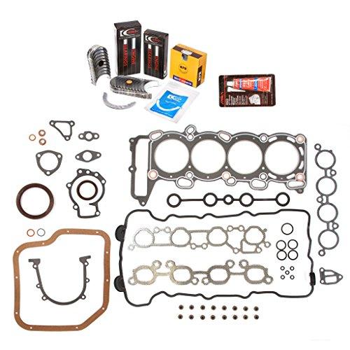 Evergreen Engine Rering Kit FSBRR3029EVE\0\0\0 94-99 Nissan 200SX Sentra Infiniti G20 SR20DE Full Gasket Set, Standard Size Main Rod Bearings, Standard Size Piston Rings