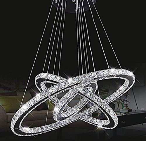 LLYU Lampadari Plafoniere Tenlion Lampadario di cristallo Lampada a sospensione Lampada da soffitto 30cm * 50cm * 70cm Bianco neutro