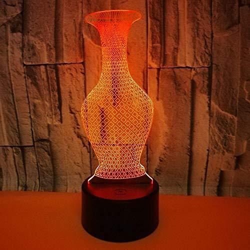 vaas, USB-interface, kleurrijke touch afstandsbediening schakelaar nachtlampje bedlampje kinderen cadeau