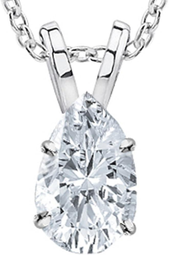 1 2-2 Carat 14K White Gold Pear Diamond Pendan GIA Max Fashionable 71% OFF Cut Certified