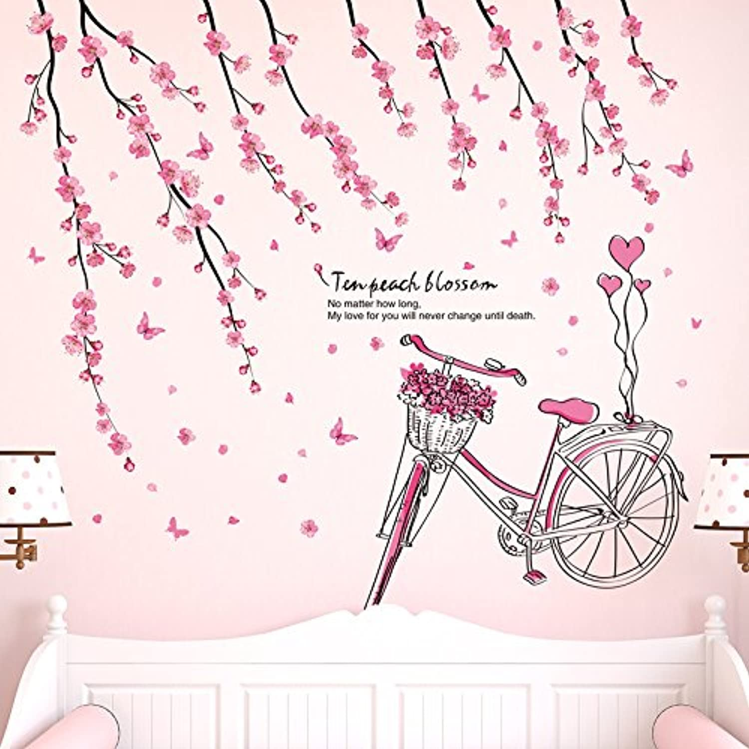 Znzbzt Bedroom Wall Sticker Wall Decoration Wallpaper self Adhesive 10, The Peach Wall Mount