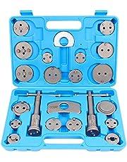 CCLIFE Caja con herramientas para reponer pinzas de freno,set de herramientas para vehículos, 22 piezas, para diferentes marcas,pastillas de freno