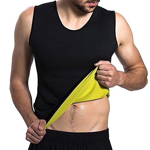Homieco Männer Body Shaper Taille Trainer Weste Shirt Heißer Sweat Workout Tank Gewichtsverlust Shapewear Abnehmen Unterhemd