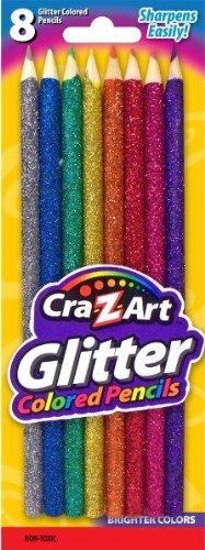Cra-Z-Art Glitter Colored Pencils Carded, 8 Count (10432)