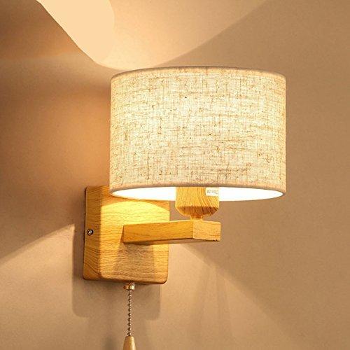NZDY Lámpara de pared de lectura de luces de pared, dormitorio, cabecera, simple, moderno, hotel, sala de estar, estudio, pared llevada con interruptor,B