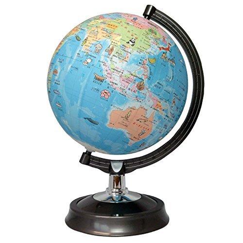 昭和カートン 地球儀 26-HPP 行政図 絵入りひらがなタイプ 球径26cm プラスチック台座