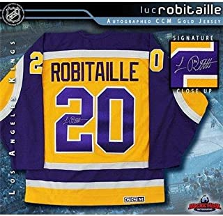 Luc Robitaille Signed Jersey - Gold CCM - Autographed NHL Jerseys