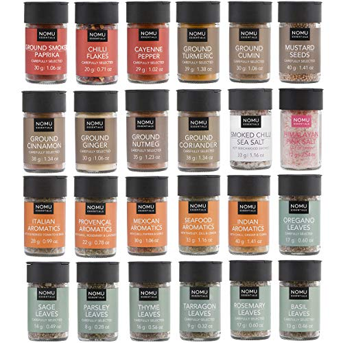NOMU 24-Piece Starter Variety Set of Spices