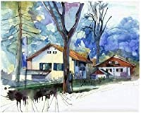 NC56 DIY Adult digital painting oil painting children beginner acrylic painting kit abstract artist home decoration town