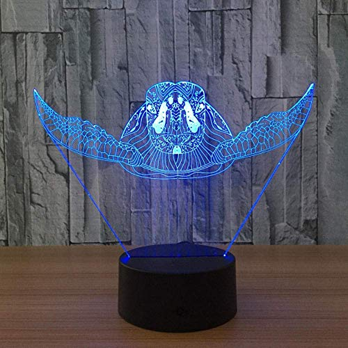 7-Color Sea Turtle Change Night Light Collection Charizard 3D Led Table Lamp Cartoon Picture Children Bedside Lampen